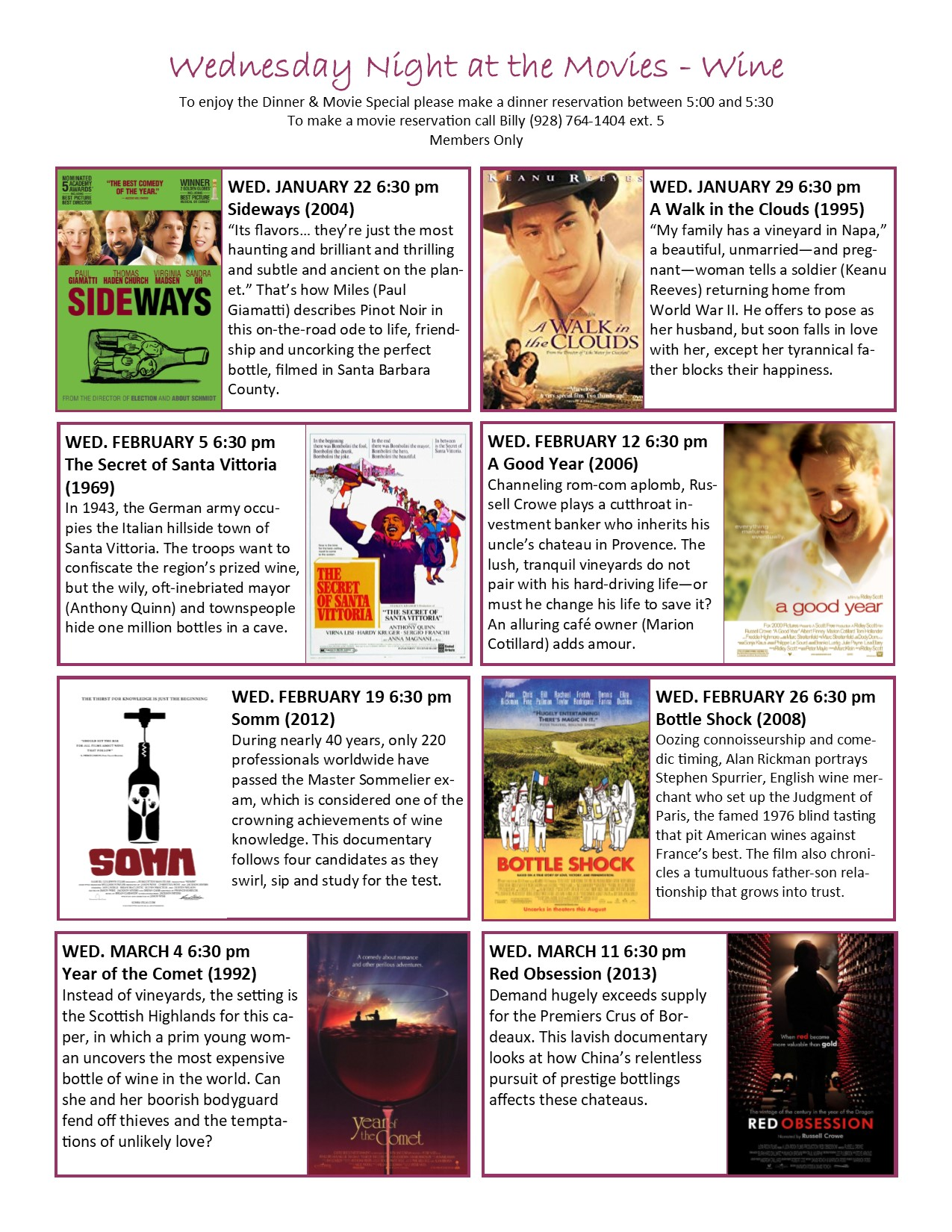Films About Wine